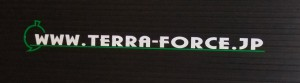 TERRA FORCE BANNER STICKER
